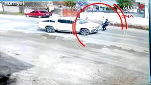 El freni çekilmediği için hareket eden kamyoneti Jandarma böyle durdurdu