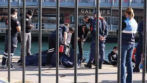 Karaköyde denizden 22 yaşında bir gencin cesedi çıkarıldı