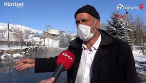 Erzurum Balıklıgöl -30da bile donmuyor