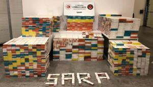 Sarp Sınır Kapısında, 30 bin paket elektronik sigara tütünü ele geçirildi