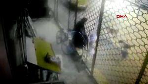 Sokak köpekleri kadına dehşeti yaşattı Korku dolu anlar kamerada