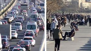 Son dakika... İstanbulda kısıtlama öncesi şaşkına çeviren iki görüntü