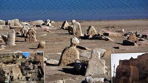Kayseride baraj suları çekilince eski yapılar ortaya çıktı