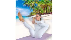 Manaftan sağlıklı yaşam için yoga duruşu