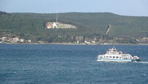 Gökçeada ve Bozcaadaya feribot seferleri iptal edildi