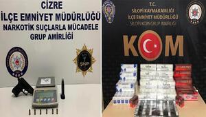 Şırnak ve Habur Sınır Kapısında kaçakçılık operasyonu: 54 gözaltı
