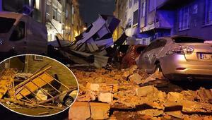 Son dakika haberi: Meteoroloji uyarmıştı... Ve beklenen oldu İstanbulda birçok bölgede çatılar uçtu
