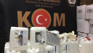 İzmirde 12 ton kaçak etil alkol ele geçirildi