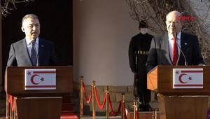 Cumhurbaşkanı Yardımcısı Oktay ile KKTC Cumhurbaşkanı Tatardan flaş açıklamalar