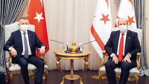 Fuat Oktay KKTCde... Kıbrıs'ta çözüm iki devletli olacak