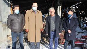 Berlin Başkonsolosu'ndan yanan Bizim Döner imalathanesine ziyaret