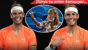 Dünya bu anı konuşuyor Kendisine el hareketi yapan kadına Rafael Nadalın tepkisi...
