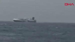 Çanakkale Boğazı çıkışı yapan Ro-Ro gemisinde yangın çıktı