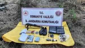Osmaniye'de PKK sığınağında silah, mühimmat ve örgütsel doküman ele geçti