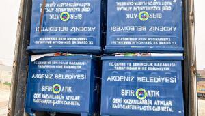 Akdeniz Belediyesi'ne 459 adet yeni çöp konteyneri hibe edildi