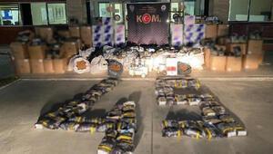 Manisada 1 ton 315 kilogram kaçak tütün ele geçirildi