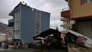 Ordu'da şiddetli rüzgar ağaçları devirdi, çatıları uçurdu