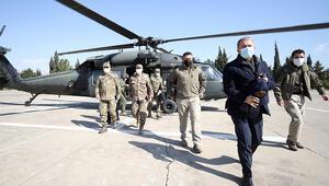 Son dakika... Bakan Akardan sınır hattındaki birliklerde denetim