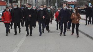 Bilecikte Vali Şentürkün katılımıyla koronavirüs denetimi