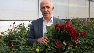 Başkan Gültak, Sevgililer Günü'nü gül bahçesinde kutladı