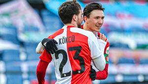 Orkun Kökçünün gol attığı maçta Feyenoord, Willemi farklı yendi