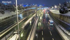 İstanbulda haftanın ilk gününde trafik sakin seyrediyor
