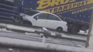 Silivride zincirleme kaza TEMin İstanbul yönü kapandı