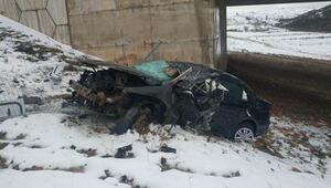 Kontrolden çıkan otomobil şarampole devrildi: 1 ölü, 1 yaralı