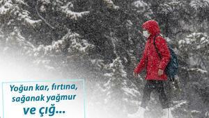 Meteorolojiden İstanbul, Ankara, İzmir dahil çok sayıda kente uyarı: Yoğun kar, kuvvetli rüzgar...
