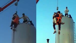 10 metrelik kuyuda donmak üzereyken bulunan çift böyle kurtarıldı