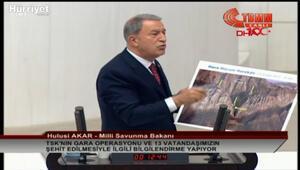 Milli Savunma Bakanın Hulusi Akar, TBMMde Gara operasyonun detaylarını anlattı