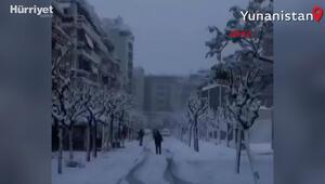 Yunanistanda kar fırtınası: 250 bin kişi elektriksiz kaldı