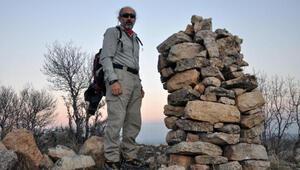 Balıkesir'den gelip Mardindeki Turcel Dağına tırmandı
