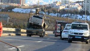 Ankarada iki kamyonet çarpıştı 1 ölü, 1 yaralı