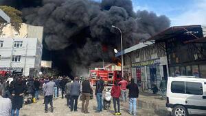 Hatayda sanayi sitesinde fabrika yangını