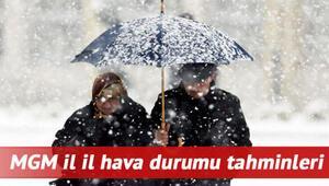Hava nasıl olacak MGM 18 Şubat İstanbul, Ankara, İzmir ve il il hava durumu tahminleri Kar Doğu Anadoluya gidiyor