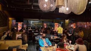 Şişlide kısıtlama kurallarını ihlal eden restorana baskın anı