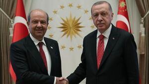 Cumhurbaşkanı Erdoğan, KKTC Cumhurbaşkanı Tatarla görüştü