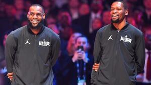 NBA All-Star maçının ilk 5leri belli oldu Kaptanlar LeBron James ve Kevin Durant...