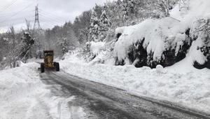 Zonguldakta 52 köy yolu ulaşıma kapandı