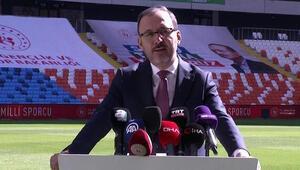 Bakan Kasapoğlu Yeni Adana Stadının açılışında konuştu