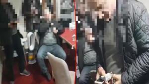 Pizzacı kılığına giren polisten kumar baskını kamerada