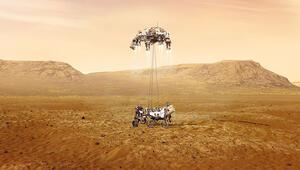 Azim Mars toprağında Mars'a böyle indi...