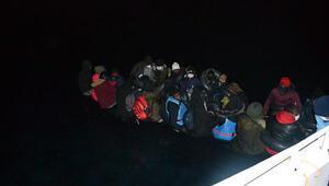 Türk kara sularına itilen 36 sığınmacı kurtarıldı