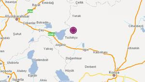 Konyada 3.8 büyüklüğünde deprem