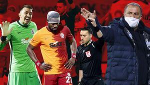 Alanyaspor-Galatasaray maçında Fatih Terim çılgına döndü Galatasaray derbiyi hatırlattı...