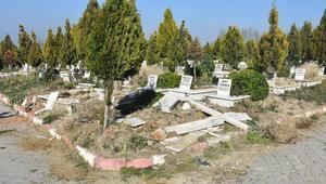 Manisada mezarlıklara çirkin saldırı