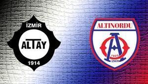 TFF 1. Ligde İzmir derbisi Altay ile Altınordu...