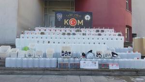 Adana'da sahte içki imalathanesine baskın: 1 gözaltı