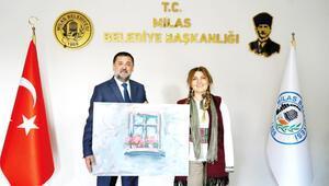 Başkan Tokat'a anlamlı hediye